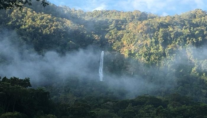 The El Bejuco Waterfall in the Cangrejal River Valley, Honduras