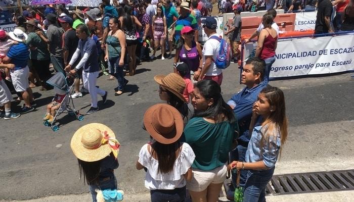 Ticos at a parade