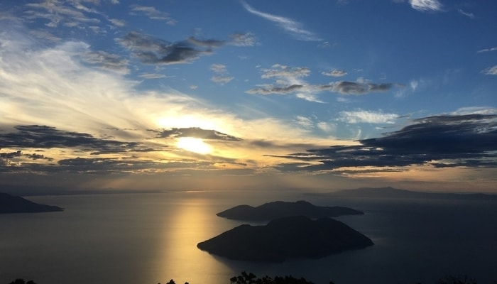Sunrise over the Gulf of Fonseca from Conchagua Volcano