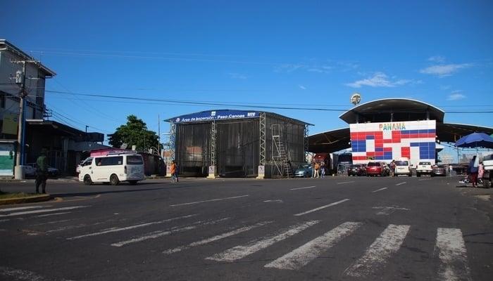 The Costa Rica-Panama border at Paso Canoas