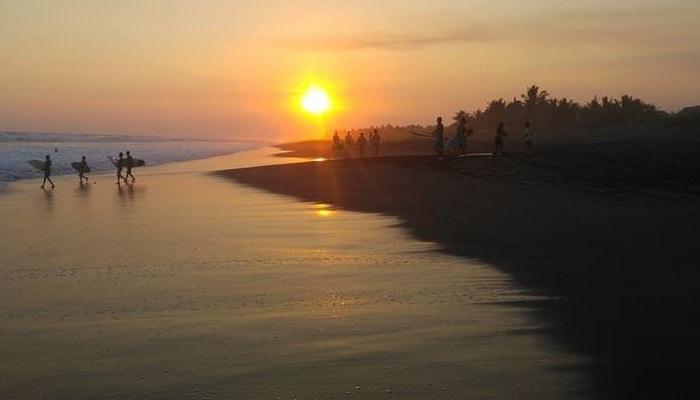 Guatemala Beaches: El Paredón sunset