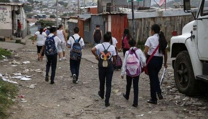 Schoolchildren in La Carpio, Costa Rica