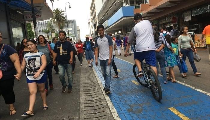 The streets of San Jose, Costa Rica