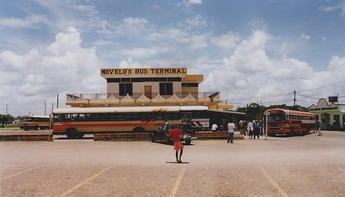 Getting around Belize: Belize City bus terminal