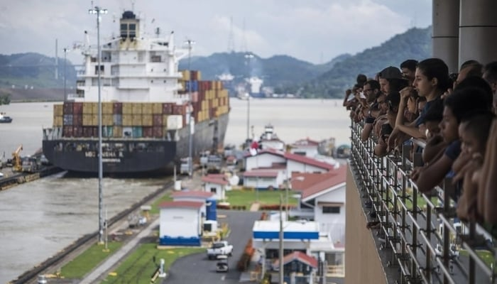 Miraflores Locks, Panama Canal: On the viewing platform at the visitor center