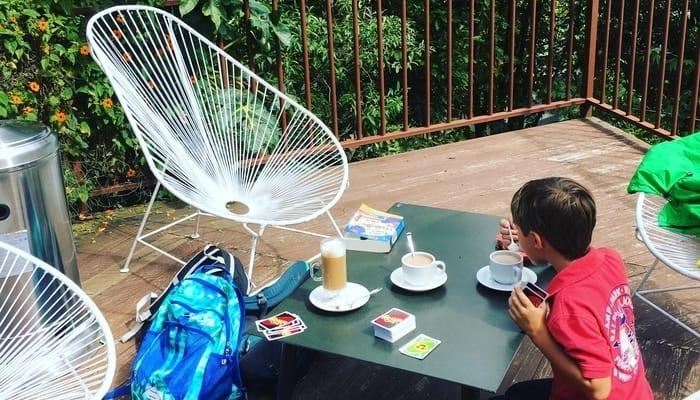 San Gerardo de Dota, Costa Rica: Hot chocolates and Uno