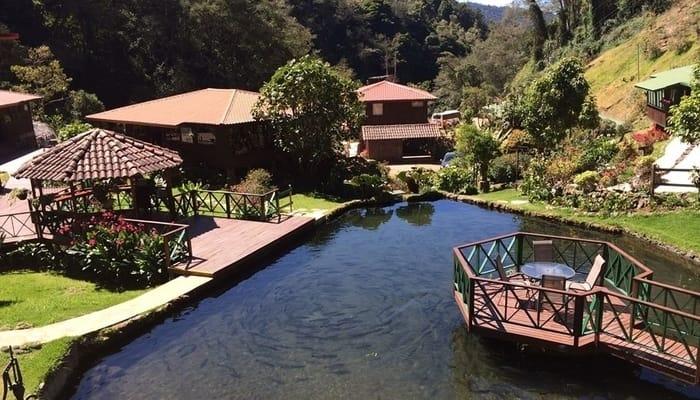 Trogon Lodge trout pond, San Gerardo de Dota, Costa Rica