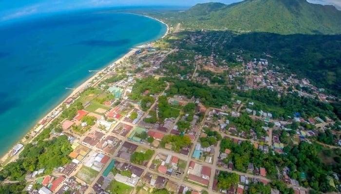 Trujillo, Honduras from the air