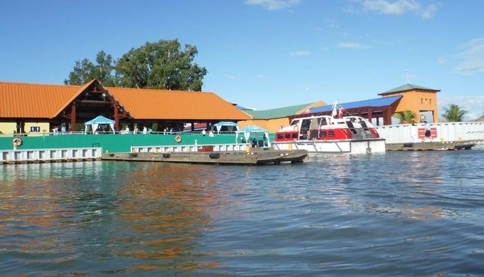 Tender dock in Trujillo, Honduras