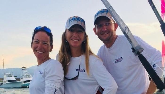 Nicky, Samantha, and me on the Monkeyshine