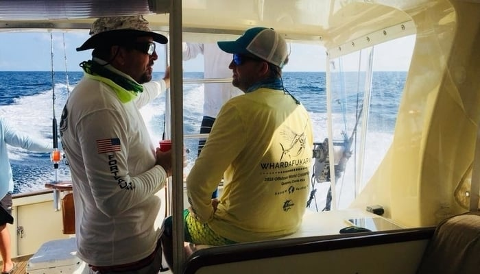 Out on the Macushla during the 2018 World Offshore Championship