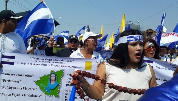 Peace and Justice March, Managua, April 28, 2018
