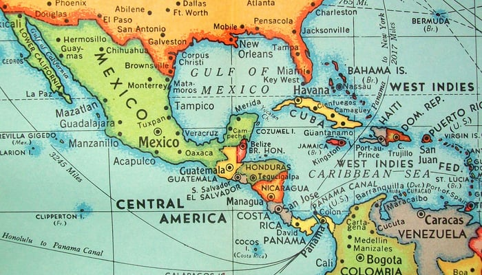Is Panama part of Central America:Map of Central America from 1960 by Hagstrom Maps (Panama was part of Central America even back then) / David (Flickr)