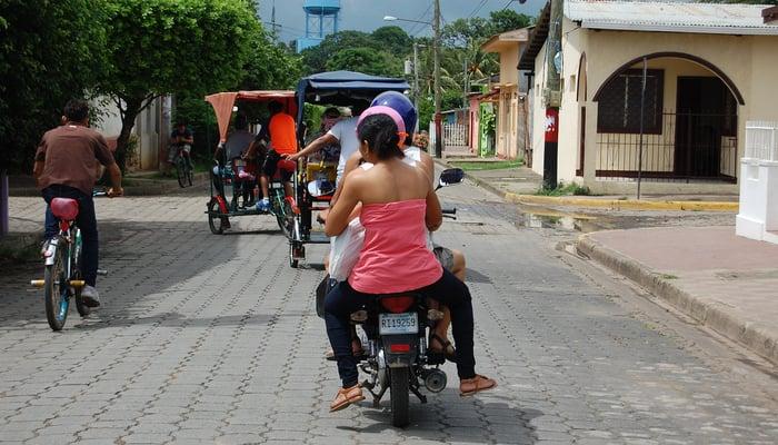 Roads in Central America: Rivas, Nicaragua
