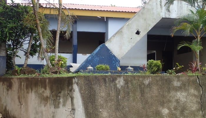 Daily life in Nicaragua: Looted government buildings in Diriamba