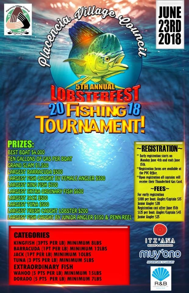 Placencia Lobsterfest Fishing Competition