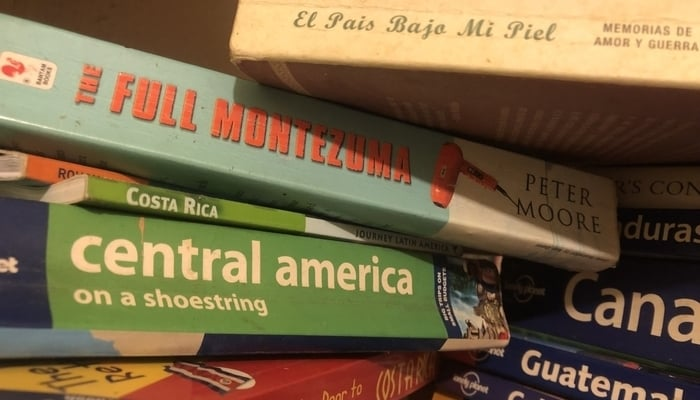 Books about Central America / Photo credit to James Dyde