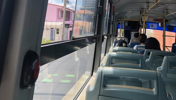 Buses in Costa Rica / Photo credit to James Dyde