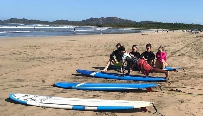 Taking a Costa Rica surf lesson in Tamarindo with Iguana Surf / Iguana Surf Facebook Page