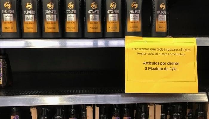 Coronavirus Update: Empty shelves in Costa Rican supermarket