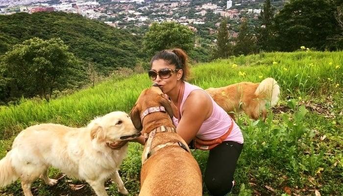 Coronavirus crisis hero Anna Maya Morburg with her dogs in Costa Rica / Anna Maya Moberg Facebook Page